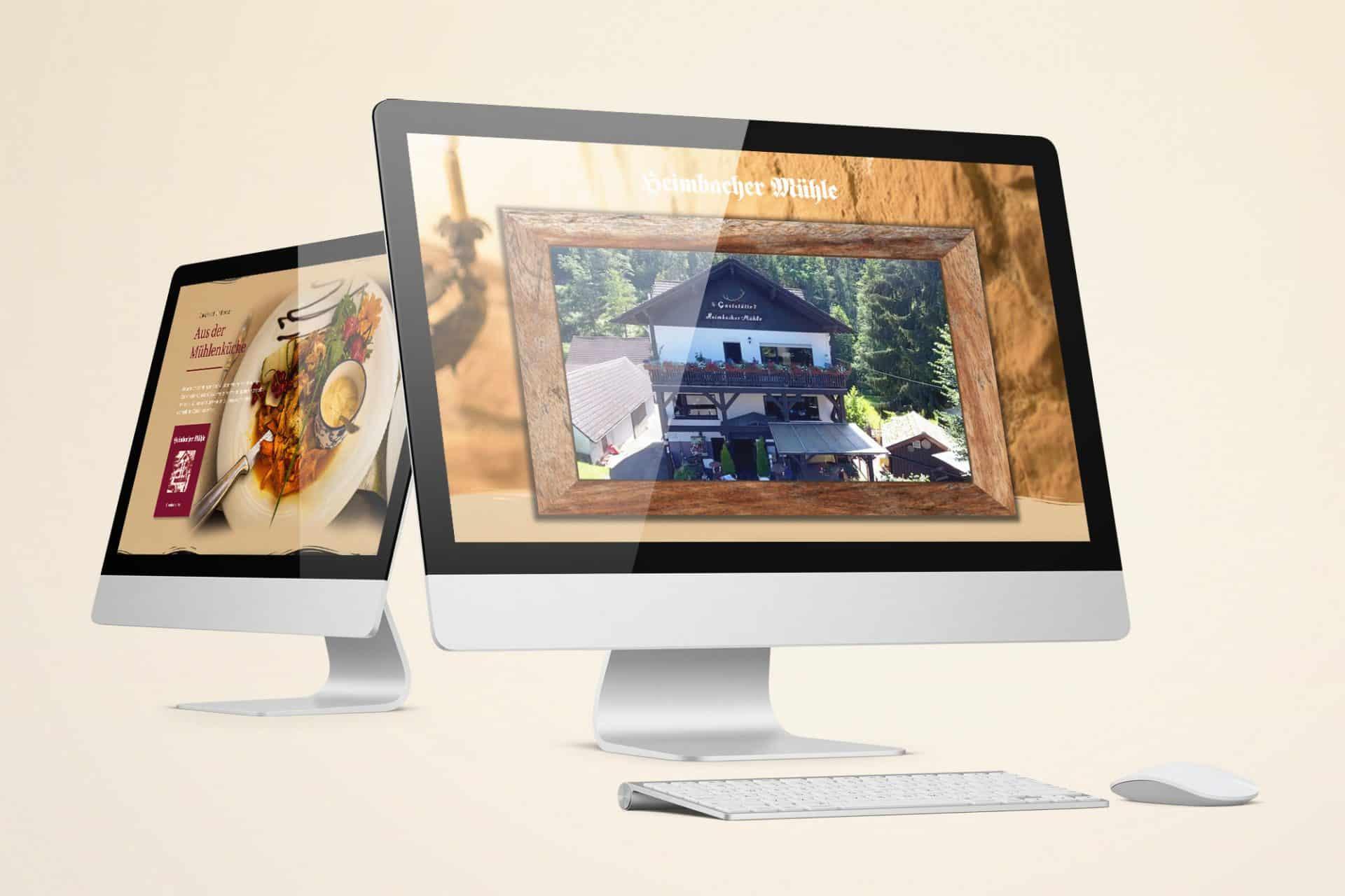 Webdesign für Desktop und mobile Geräte