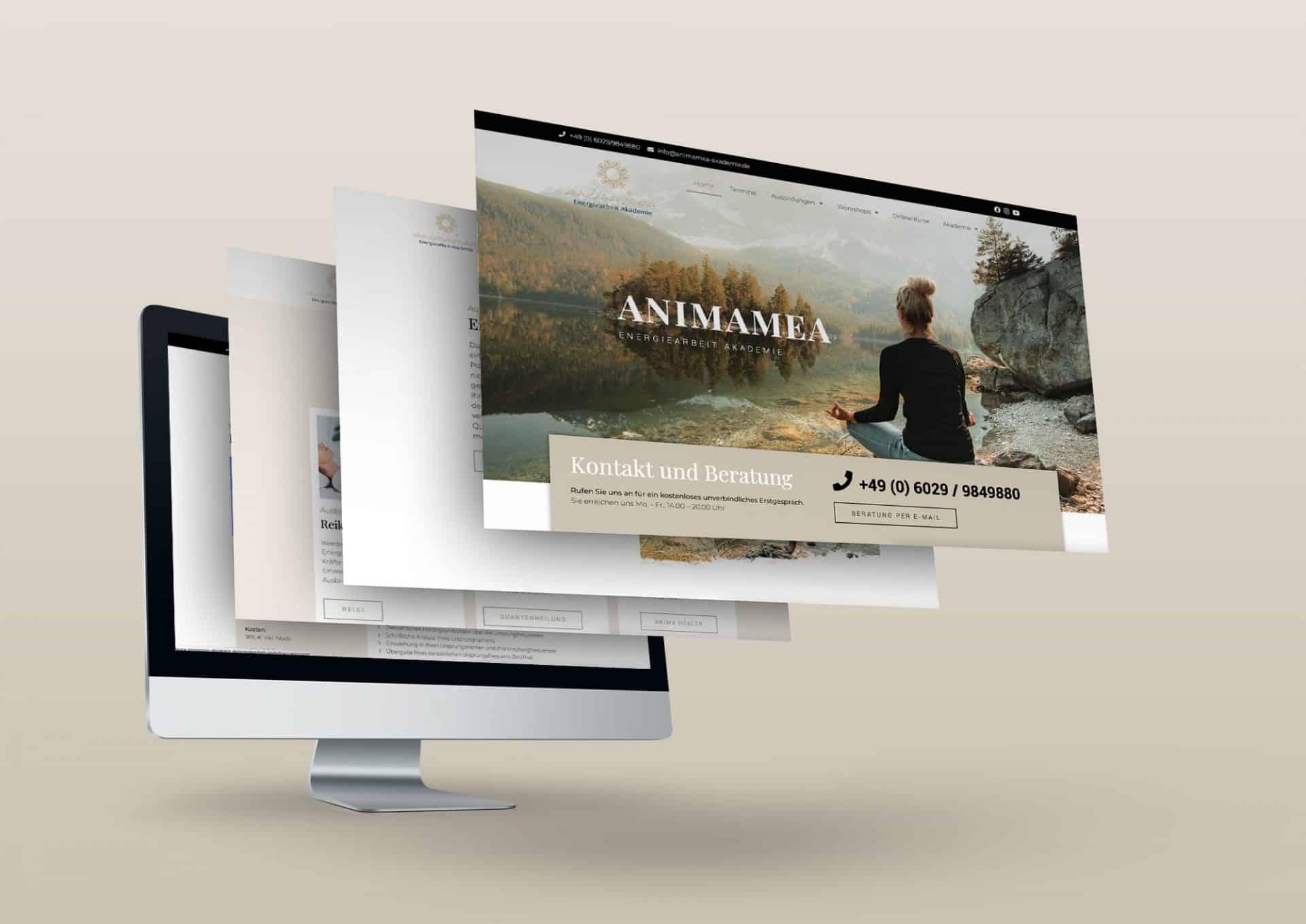 Informative Website von AnimaMea Energiearbeit Akademie